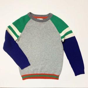 Boden Color-Block Crewneck Knit Sweater